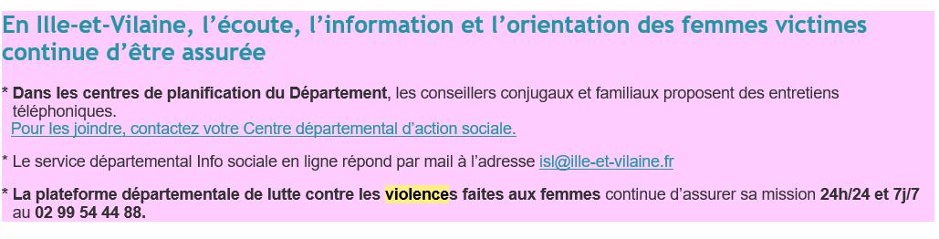 Ecoute femmes victimes violences
